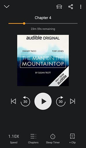 Audible App Listening Features screenshot