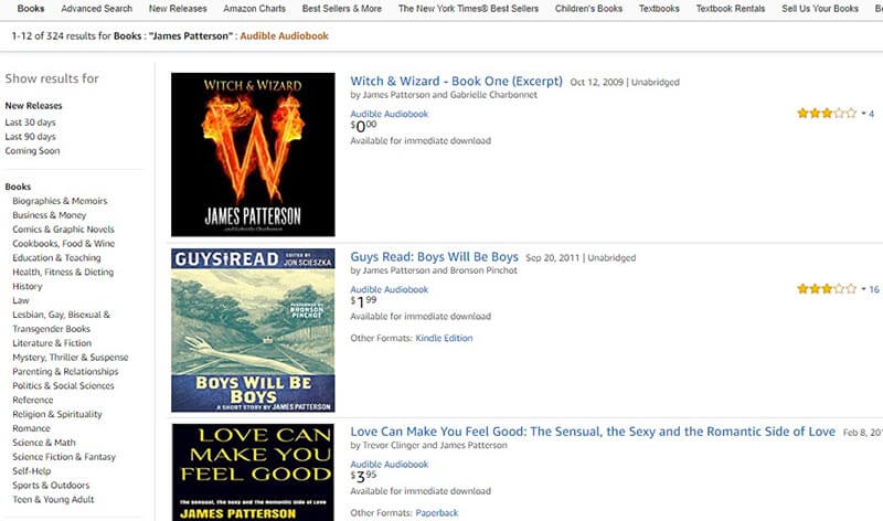 Search Results of Audible Books by Price