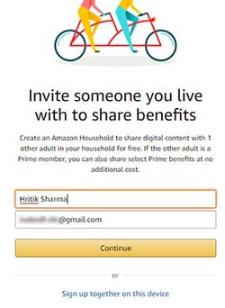 Invite Adult to Join Amazon Household