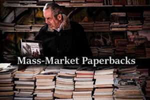 A bookstore with mass-market paperback books
