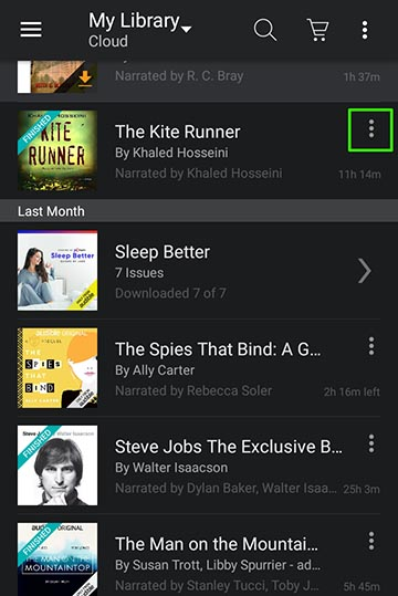 Audible App Library