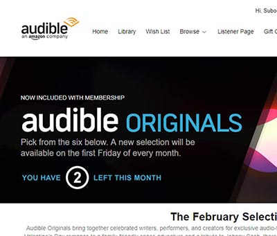 Audible Originals Page