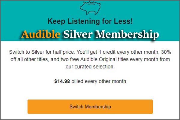 Audible Silver Membership Offer Page