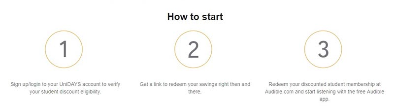 Audible Student Membership Activation Steps