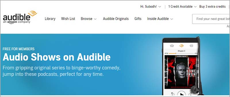 Updated Audio Shows Page
