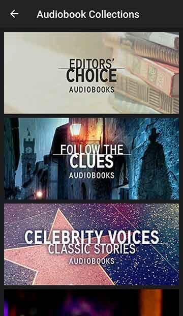 Free Audiobooks Collection Home Screen