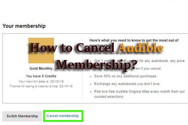 How to Cancel Audible Membership? Cancellation Page