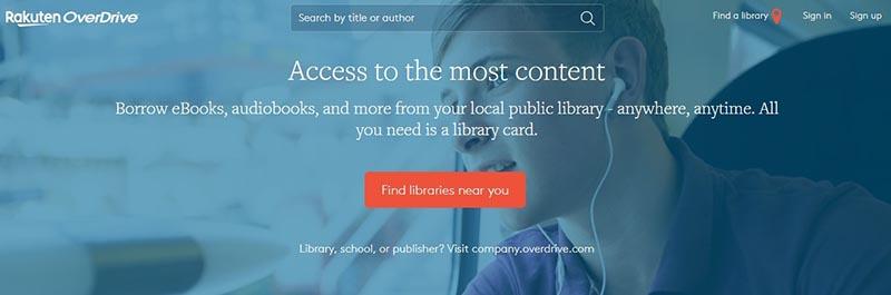 Overdrive Homepage