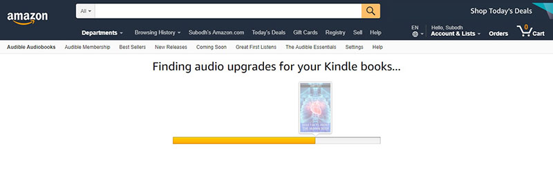 Scaning Kindle for Audio Upgrades