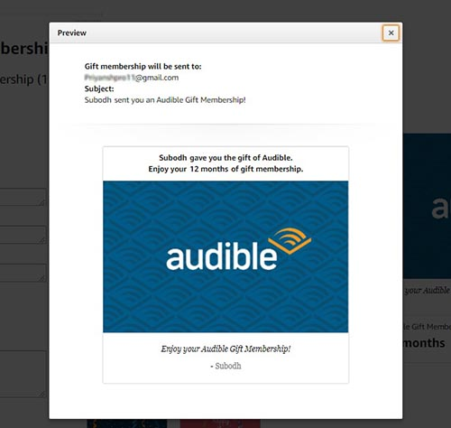 Audible Membership Gift Preview