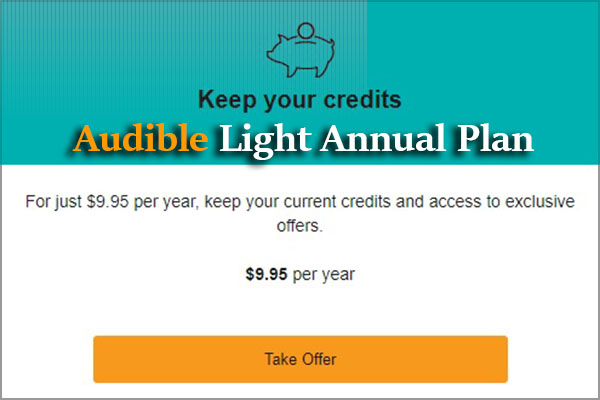 Audible Inactive Light Annual Plan 2020: What is it & How to Start?